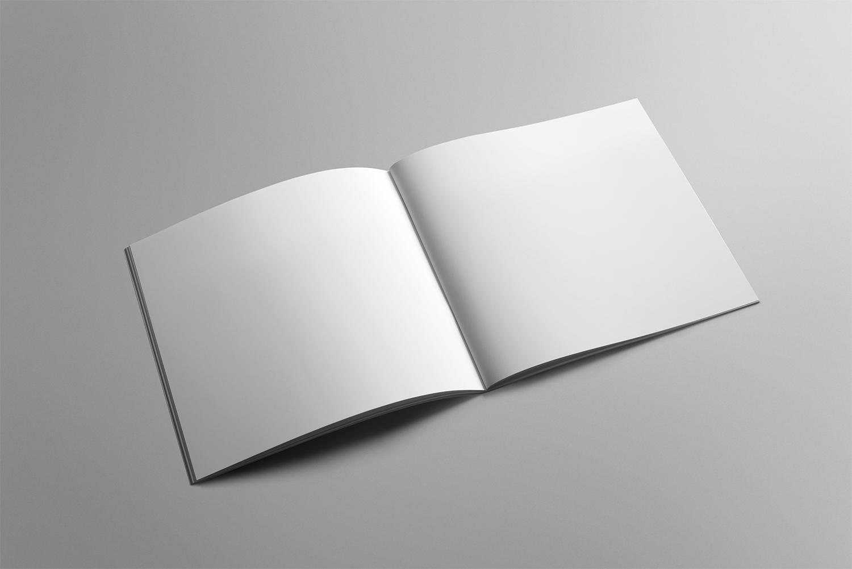 Free Square Brochure Mockup PSD