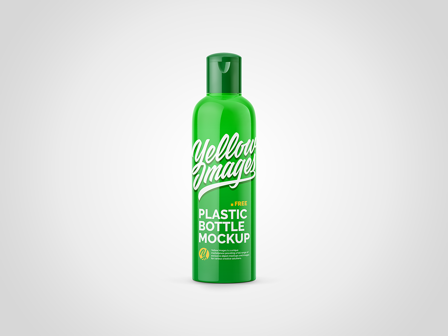 Glossy Cosmetic Plastic Bottle Free Mockup