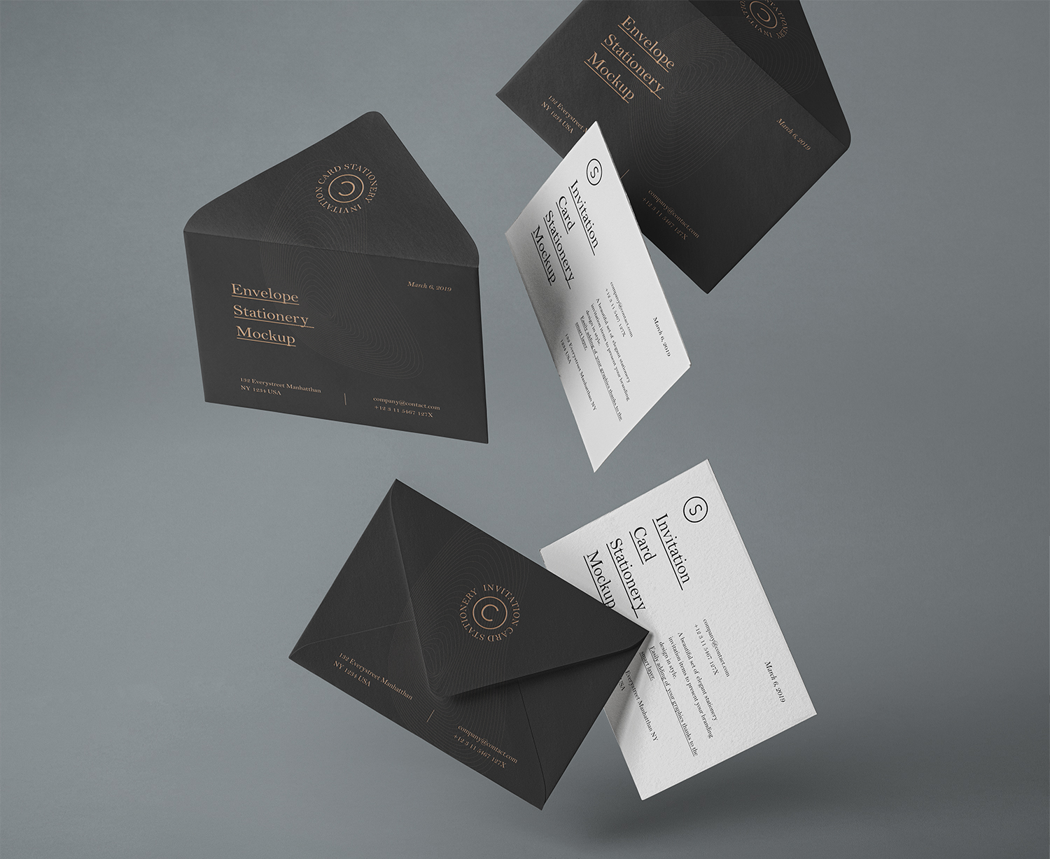 Gravity PSD Invitation Mockup