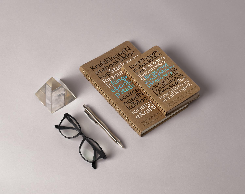 Kraft Ringed Notebooks Mockup