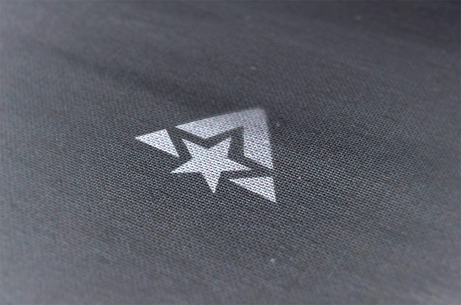 Pressed Logo Mockup on Fabric