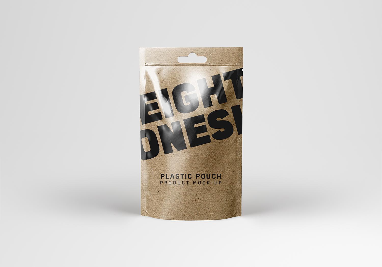 Realistic Plastic Pouch Mockup