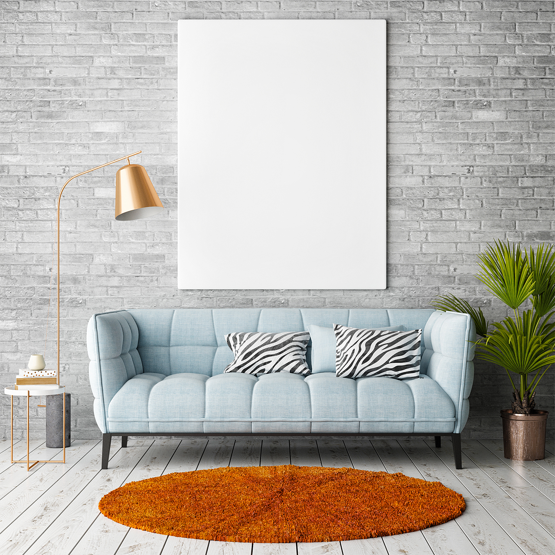 Room Interior Frame Poster Mockup