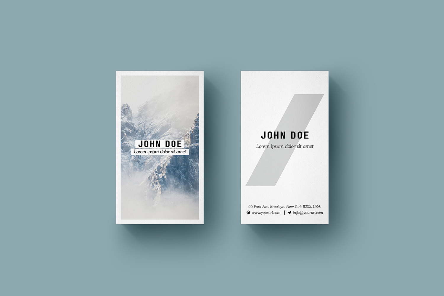 Vertical Business Card Mockup Free PSD