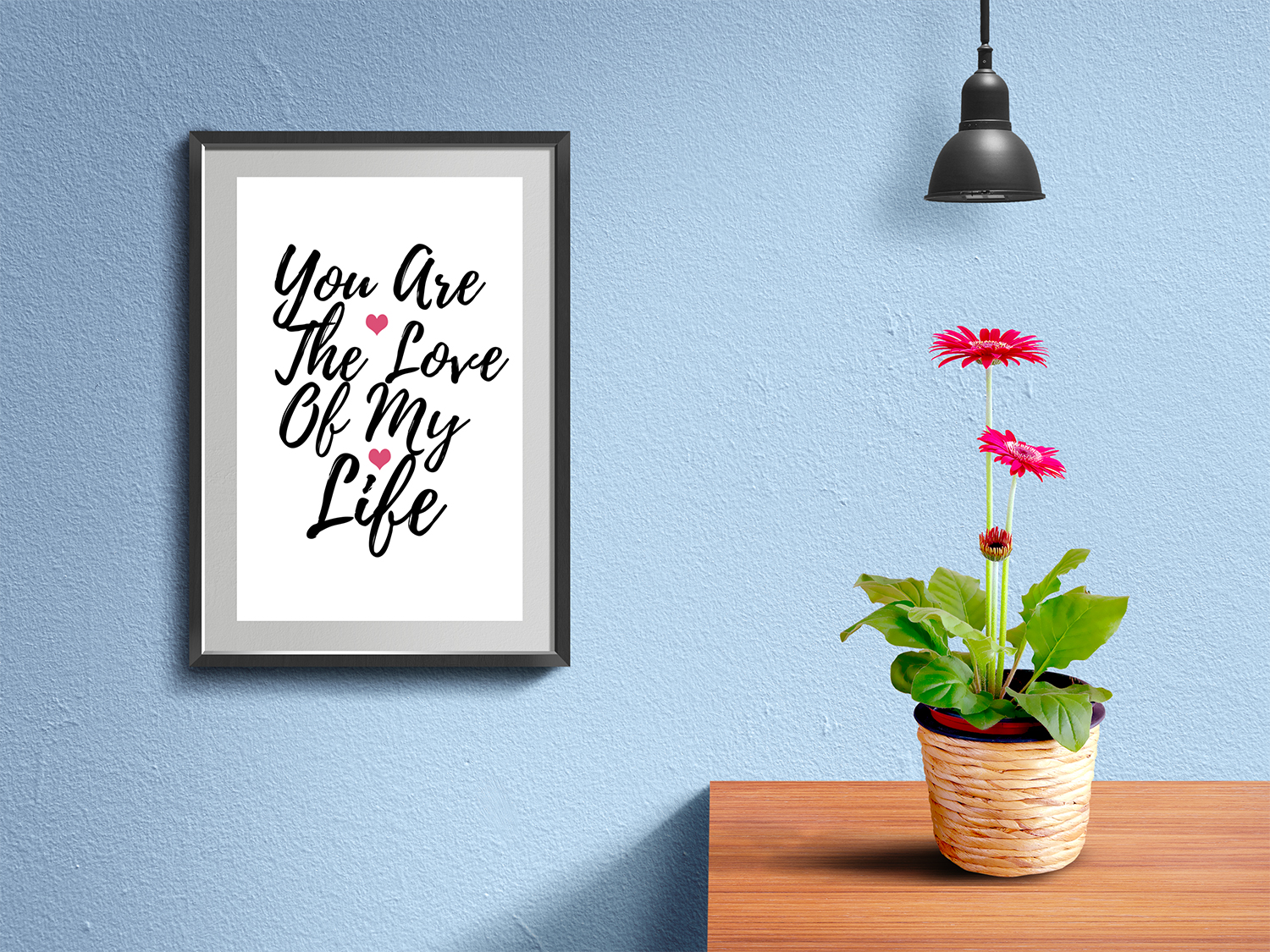 Wall Frame and Poster Mockup