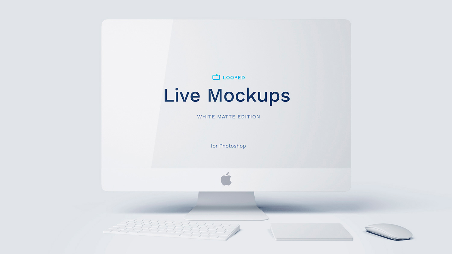 8 White Matte Apple's Device Mockups