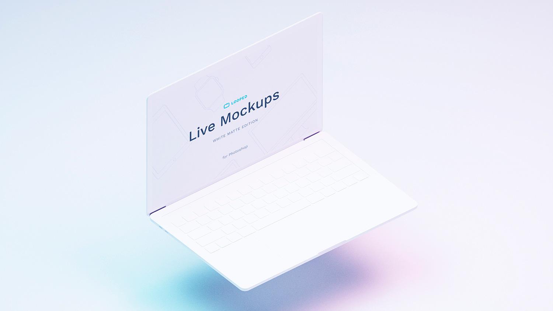 8 White Matte Apple's Device Mockups