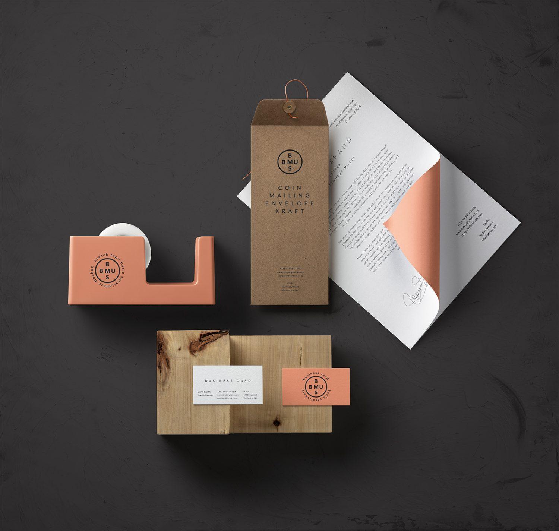 Basic Stationery Branding Mockup