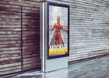 City Light Billboard Mockup Free PSD