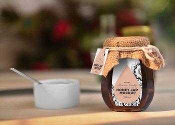Free Awesome Honey Jar Mockup