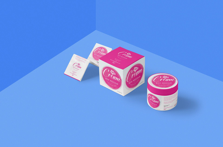 Free Beautiful Cosmetic Cream Mockup