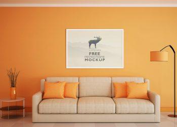 Free Beautiful Poster Frame Mockup