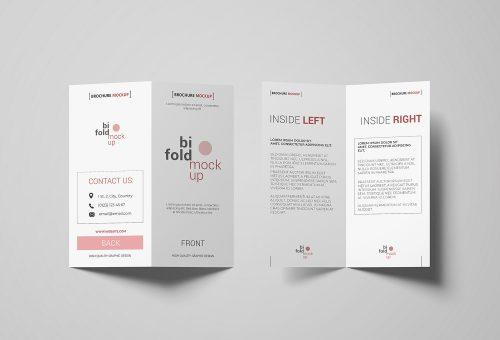 Free Bi-fold Invitation Mockup