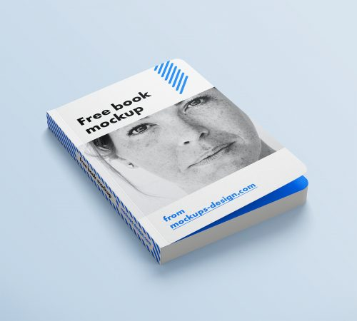 Free Book with Rounded Corners Mockup