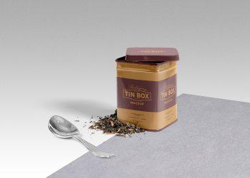 Free Cool Packaging Tin Box Mockup