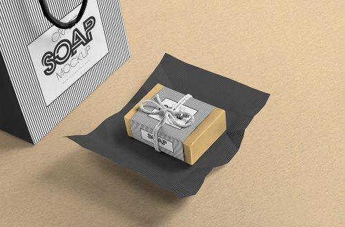 Free Craft Soap Bar Mockup