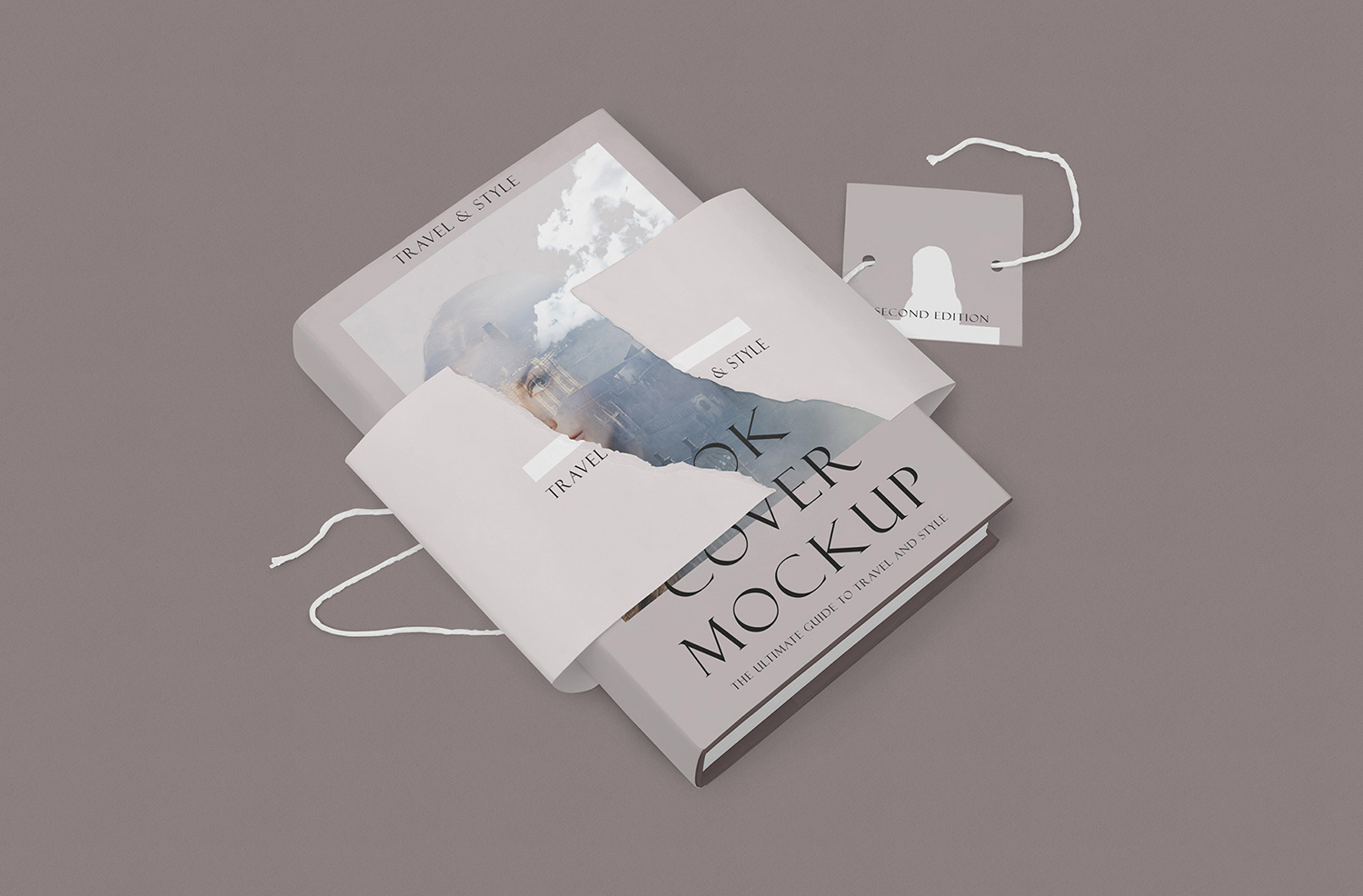 Free Customizable Hardcover Book Mockup