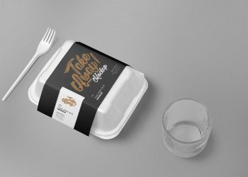 Free Disposable Food Packaging Mockup