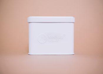 Free Embossed Tin Box Logo Mockup