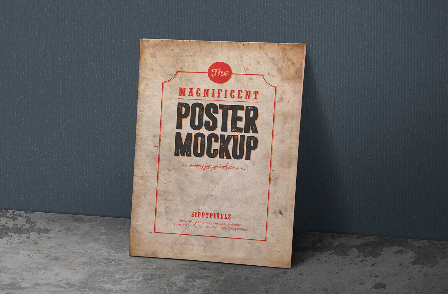 Free Madnificent Vintage Poster Mockup