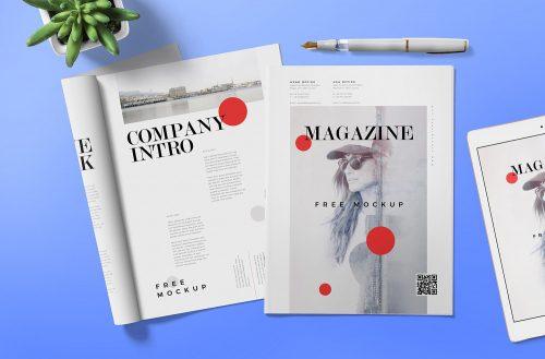 Free Magazine Ad Mockup