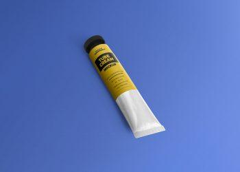 Free Metal Cream Tube Mockup