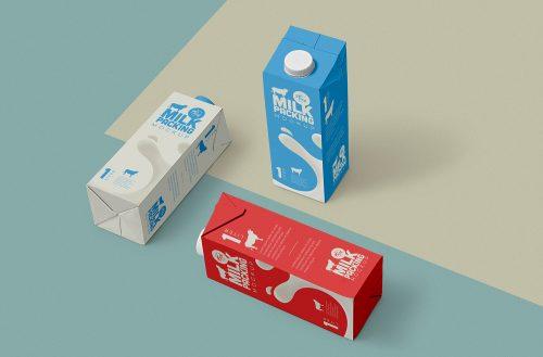 Free Milk Carton Mockup