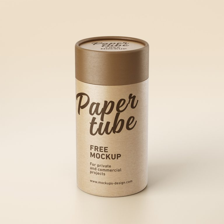 Free Paper Tube Mockup PSD