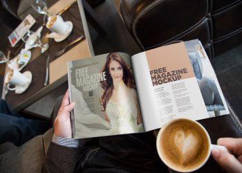 Free Photo Realistic Magazine Ad Mockup