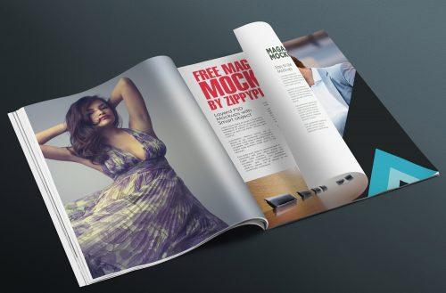 Free Photorealistic Magazine Page Mockup