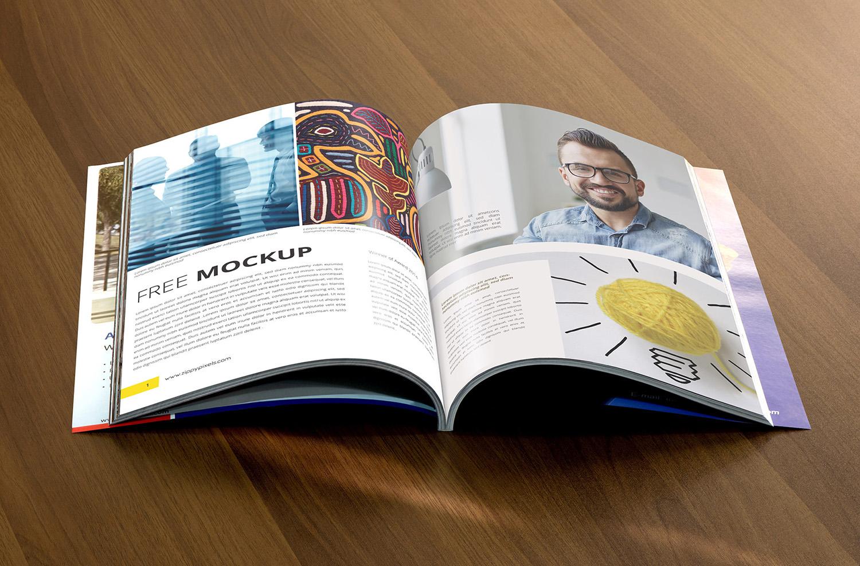 Free Realistic Catalog Mockup PSD