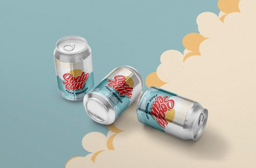 Free Soft Drink Can Mockup