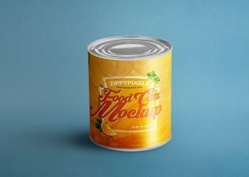 Free Tin Can Mockup