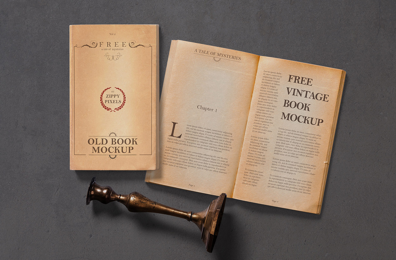 Free Vintage Book Mockup