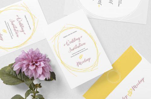 Free Wedding Card Mockup
