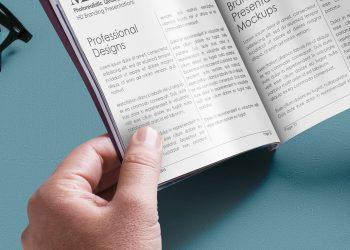 Magazine PSD Mockup