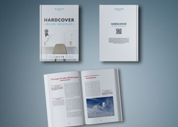 Open Book and Two Covers Mockup