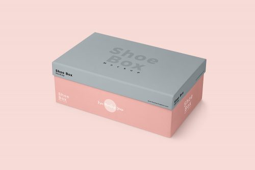 Shoe Box Mockup Free