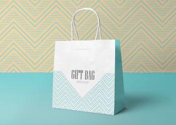 Free Attractive Gift Bag Mockup