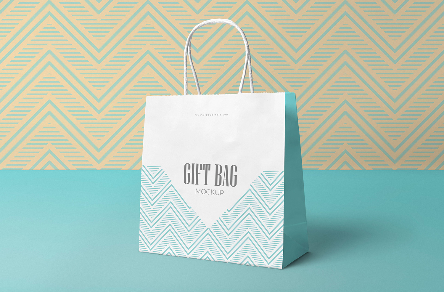 Free Attractive Gift Bag Mockup
