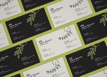 Stationery Business Cards Mockup