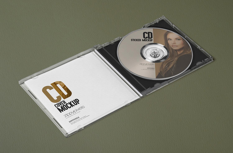 3 Free Outstanding Plastic CD Case Mockups