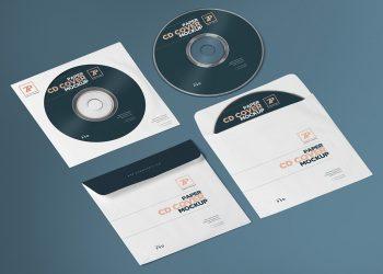 CD Cover Mockup Photoshop PSD