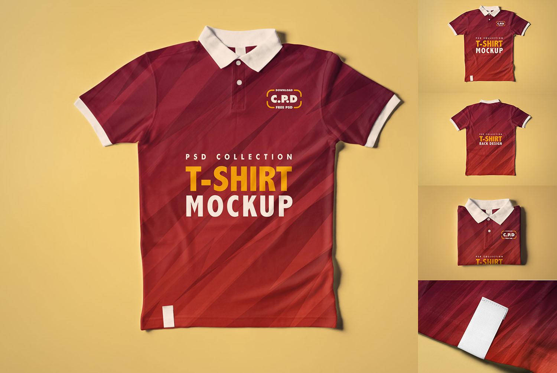 Collar T-Shirt Mockup Collection