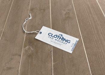 Customizable Free Clothing Label Mockup PSD
