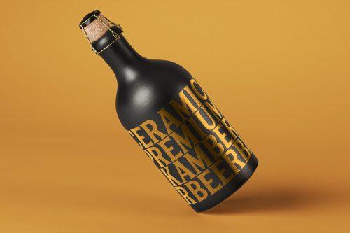 Dark Psd Bottle Mockup