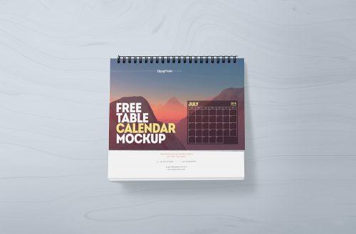 Desk Calendar Free Mockup