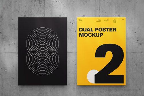 Dual Poster Mockup