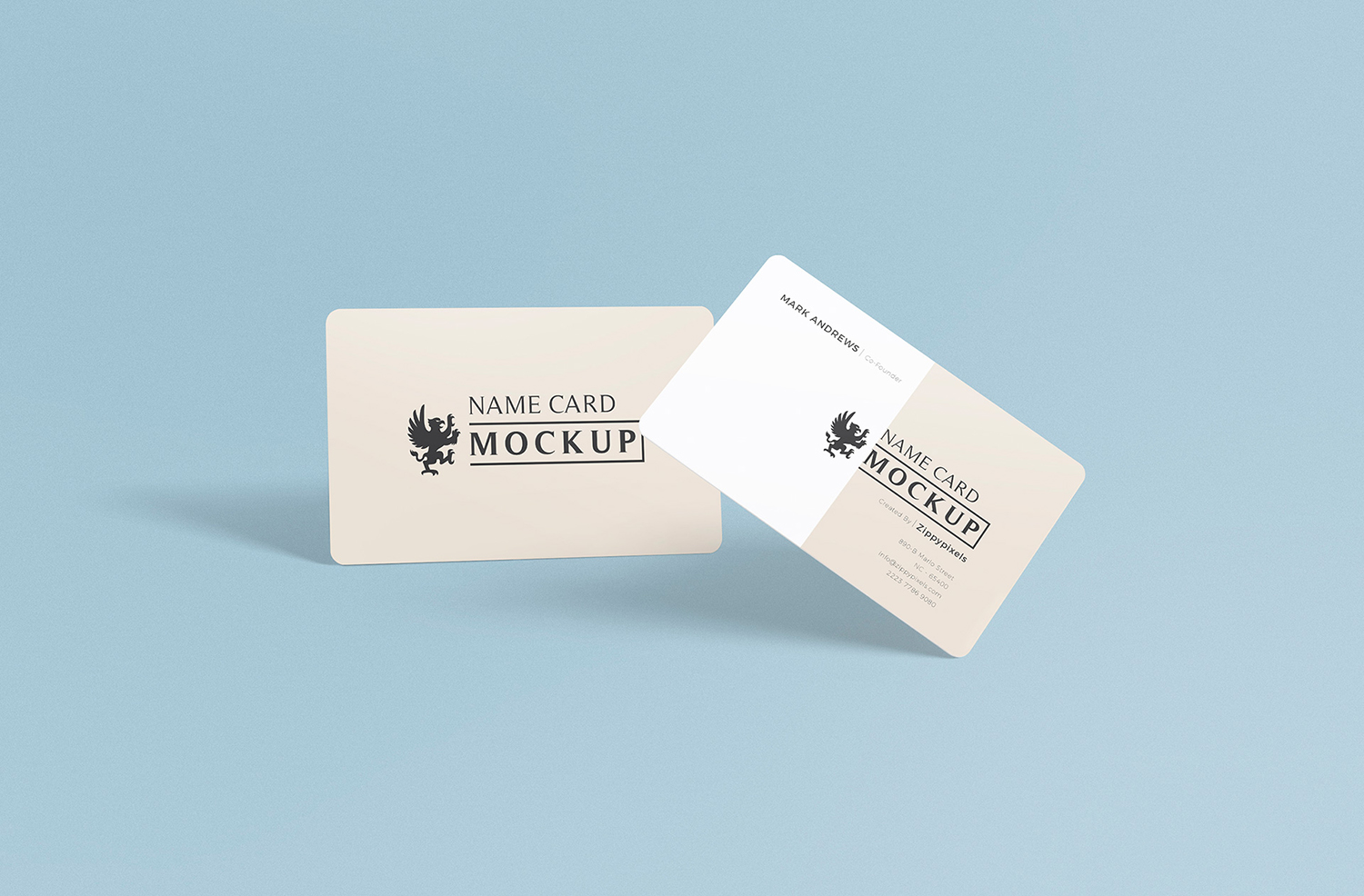 Exquisite Free Name Card Mockup PSD
