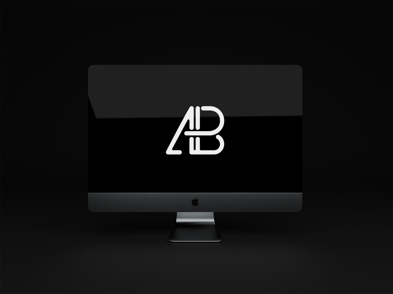 Free Animated iMac Pro PSD Mockup
